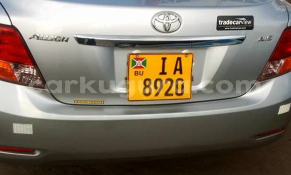 Acheter Occasion Voiture Toyota Allion Gris à Kinindo au Bujumbura