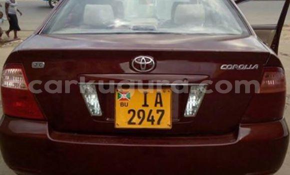 Acheter Occasion Voiture Toyota Corolla Rouge à Bururi au Burundi